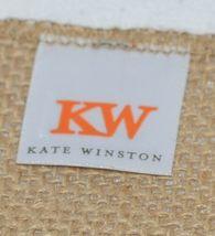 Kate Winston Brand Brown Burlap Monogram Black And White E Garden Flag image 4