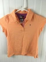 Tommy Hilfiger Girls Size Small Orange Polo Cap Sleeve Shirt x25 - $9.56