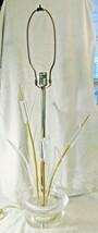 Rare Mid-Century Modern Lucite Cattails Sculptural Table Lamp - $371.25