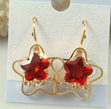 RED STAR/HEART EARRINGS         ITEM # 8076             COMBINED SHIPPING - $3.75