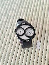 MARC ECKO E16584G1 Dual Time St Steel Quartz 48mm Black Men's Watch. - $50.00