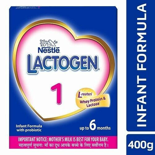 Nestle LACTOGEN 1 Infant Formula Powder - Upto 6 months, Stage 1, 400g