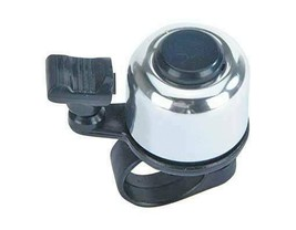 PREMIUM ALLOY 41mm Long Bolt on Mini Bicycle Bell In Black/Silver - $9.46