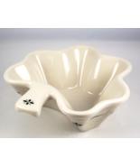 Longaberger Pottery Heritage Green shamrock dish 30536 made in USA - $22.00