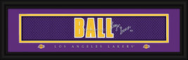 Lonzo Ball Los Angeles Lakers 8x24 Player Signature Nameplate Jersey Print - $39.95