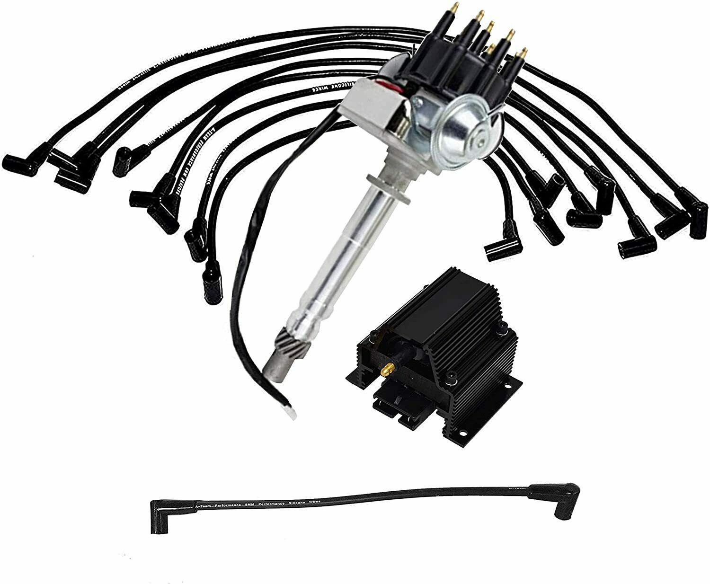 Chevy GM Small Block R2R Distributor 283 305 327 350 400 8.0mm Spark Plug Kit