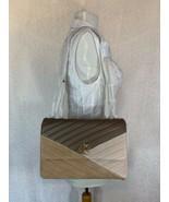 Nwt Tory Burch Kira Chevron Mezcla Material Color de Contraste Convertib... - $560.18