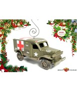 CHRISTMAS ORNAMENT DODGE WC-54 MEDIC ARMY AMBULANCE WW2 VIETNAM KOREA MA... - $35.98