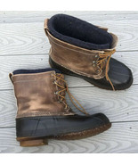 Men's Vintage LL Bean Maine Hunting Rubber & Leather Insulated Boots US ... - $81.35