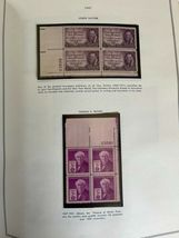 MNH 1938-1984 US Plate Block Collection Stamp Album Harris United States USA image 12