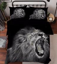 3D Funny  Lion 1 Bed Pillowcases Quilt Duvet Cover Set Single Queen King Size AU - $90.04+