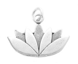 STERLING SILVER LOTUS FLOWER CHARM OR PENDANT - $9.01