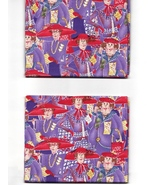 Quilt Fabric,2 Fats, Sisterhood of Purple, Packed Gals, Red Hat Society,... - $7.07