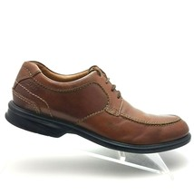 Clarks Men's Oxfords Sz 9.5 M Brown Leather Lace Up Casual Shoes - $36.37