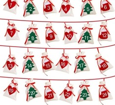 Christmas Decoration Advent Calendar Garland Hanging Gift New Year Party... - £17.49 GBP+