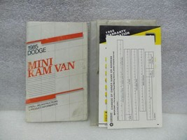 MINI RAM VAN CARAVAN   1985 Owners Manual 16583 - $13.81