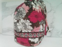 Vera Bradley Mocha Rouge Ditty Bag Retired Lined  - $16.00