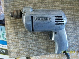 """11#A   Vintage Craftsman 1/4"""" Electric Drill Model 315 11090 Sears Tool ... - $24.72"""