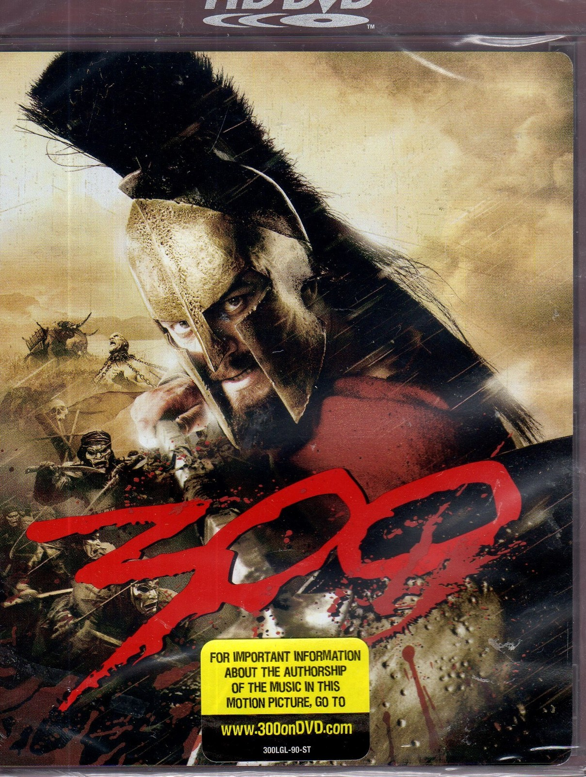 300  - ( HD-DVD Disc, 2007 Warner Bros Movie CD DVD COMPACT DISC)