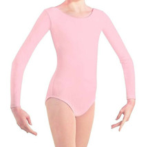 Body Wrappers BWC126 Girl's Size 8-10 (Fits 6X-7) Light Pink Long Sleeve Leotard - $12.86