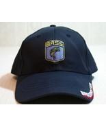B.A.S.S. Bassmaster Angler Sportsman Fishing Baseball Adjustable Blue Ha... - $14.50