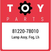 81220-78010 Toyota Lamp Assy Fog Lh, New Genuine OEM Part - $336.24