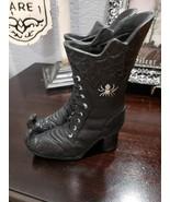 "Halloween Glitter Spider Black Witch Boots Figurine PROP Tabletop Decor 8"" - €21,17 EUR"