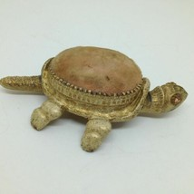 Vintage Florenza Nodding Turtle Tortoise Wagging Tail Pincushion Pin Cus... - $29.10