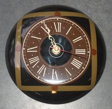 Vintage Nahariya Glass Andreas Meyer Israel Handmade Wall Hang Clock 1970's image 6