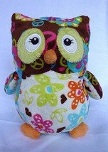 "Mary Meyer Print Pizzazz Olio Owl 7"" Plush - Peace signs  and Flowers - $9.75"