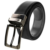 Berlioni Italy Men's 28mm Reversible Cut To Size Leather Dress Belt (194B - Blac