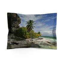 Microfiber Pillow Sham - Unique REMOTE Mona Island - Galapagos of the Ca... - £19.15 GBP+