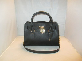Michael Kors Handbag Studio Hamilton Saffiano Leather E / W Satchel $298 Black - $149.99