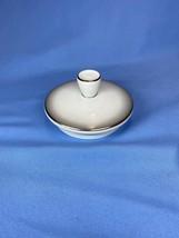 Vintage Rosenthal Germany Platinum Trim White Round Lid Only 3 Inch 3331 16 - $10.99