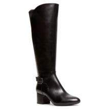 Anne Klein Women Block Heel Riding Boots Honesty Size US 7.5M Wide Calf Black - $37.00
