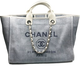 Chanel Light Blue Deauville Large Tote Bag  - $2,702.49