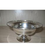 Sheffied Reproduction NS Silver Co Pedestal Bon Bon Candy Dish #0754 - $9.95