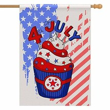 InterestPrint Independence Day July 4th House Flag Banner 28 x 40 inch P... - $20.88