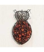 Pumpkin Spice 11 oz Potpourri Owl w/ wire mesh wall hanging Fall Autumn - $22.77