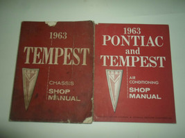 1963 GM Pontiac Tempest Chassis Luft Konditionierung 2 Band Set Fabrik O... - $37.57