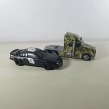 Nascar Race Car #9 & Semi Truck Plastic Toys Lot of 2 - $9.99