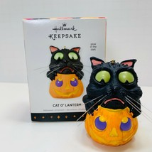 Hallmark Keepsake Halloween Ornament Cat O'Lantern Glow In The Dark 2013 - $9.49