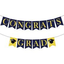 Felt, Congrats Grad Graduation Banner - No Diy, Congratulation Banner  - $17.99