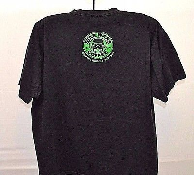 Star Wars Coffee Black T-shirt May the froth be with you XL short sleeve cotton