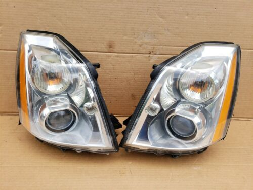 06-11 Cadillac DTS HID Xenon Headlight Head Light Lamp Set LH & RH -POLISHED
