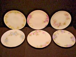 Thomas Sevres Bavaria Hand Painted China Plates set of 6  - $49.49