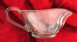 Anchor Hocking USA clear heavy glass gravy boat pitcher 1043 - $18.61