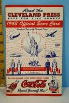 1943 Spectacular Cleveland Indians Baseball Scorecard v Senators War Uns... - $68.31