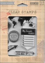 Hero Arts #CL 690 My Favorite Travel Collection by BasicGrey Clear Stamps - NIP - $10.00