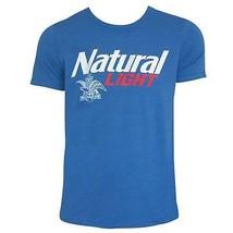 Natural Light Logo Men's Heather TShirt Blue - $29.98+